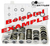 Assorted kit metric medium (M10 to M22), 130 parts, self-centering, NBR80 + stainless steel AISI316